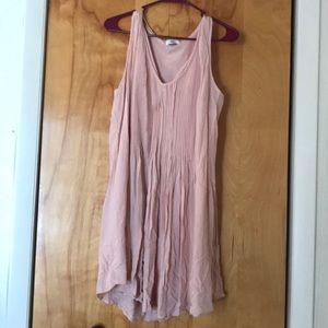 Blush sleeveless shift dress